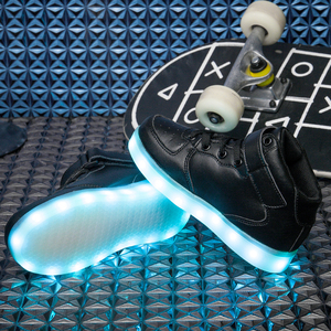 Image 4 - Size 25 37 Children LED Shoes for Kids Boys Glowing Sneakers with Luminous Sole Teen Baskets Light Up Sneakers with light shoes