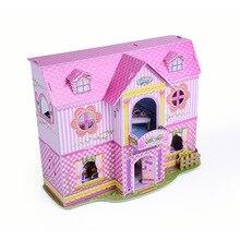 Material de Construção Princesa Castelo Puzzle Brinquedo de Papel do Enigma 3D Do Presente Do Bebê Da Menina Das Crianças Educacional Mesa de Decoração Para Casa