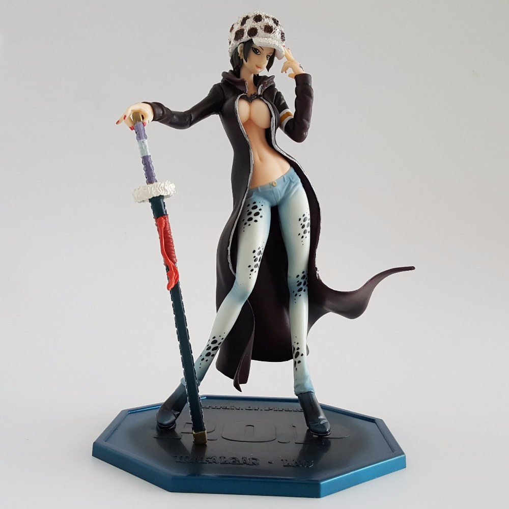 One Piece Law Figur POP Girl Version PVC 210mm One Piece Action Figurer Girl Law Sexy Anime Collectible Model Leksaker