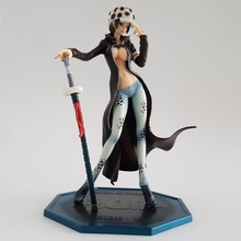 One Piece Law Figure POP Girl Version PVC 210mm One Piece Action Figures Girl Law Sexy Anime Collectible Model Toys