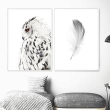 Eagle Feather Wall Art Canvas Painting Animal Nordic Posters And Prints Black White Pictures For Living Room Decor