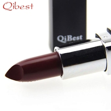 Best Deal Qibest Fashion Women Dark Red Vampire Style Lipstick Long Lasting Easy To Wear Makeup Lip Gloss for Beauty Gift 1PC