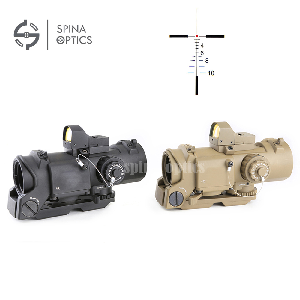 SPINA OPTICS 4x32F+HD400 Optic Sight Hunting Rifle Scope With Mini Red Dot Scope Red Dot Sight For Rifle Hunting Shooting