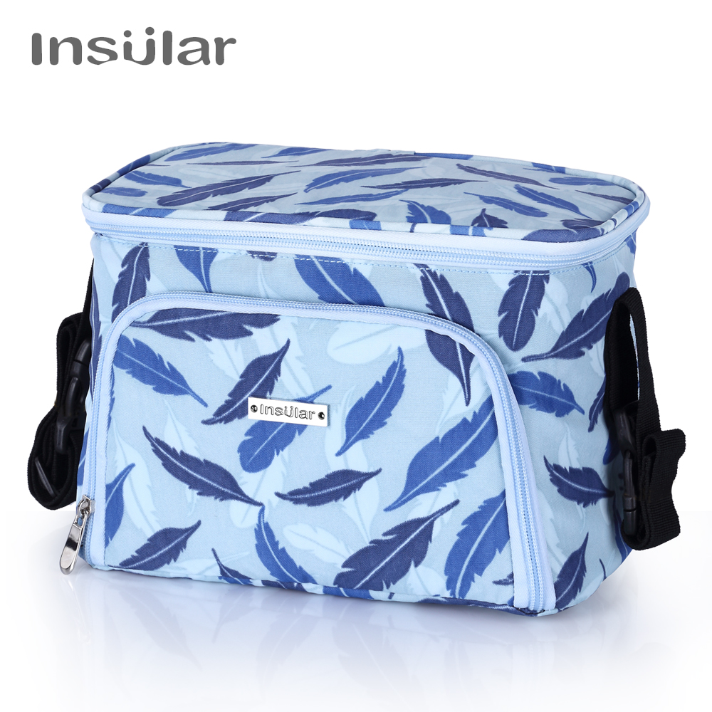 Insular New Fashion Baby Diaper Bag Thermal Insulation Nappy Chaing Tote Bag Baby Stroller Bag
