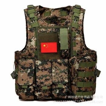 NEW Outdoor Tactical war field Camping Hiking Desert CS field vest vest desert camouflage Multi-Function molle system Vest Men