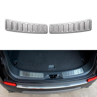 2PCS Stainless Steel Car Rear Inside Door Bumper Protector Sill Scuff Plate Trim For Land Rover
