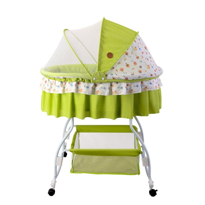 bb berceau bascule confort moustiquaire lit en mtal rotat pliable autocollants ensembles infantile appui