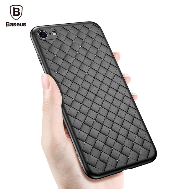 low cost 153ea c53b3 US $3.99 20% OFF|Baseus Weave Case For iPhone 6 6S Luxury Ultra Thin Slim  Back Cover Case For iPhone 6 6S Plus Capinhas Soft TPU Coque Fundas-in ...