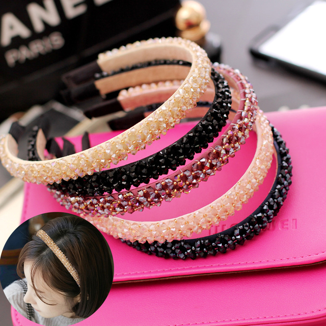 Cute Korean Headbands Crystal Rhinestone