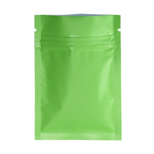 100pcs/lot Green Matte Surface 12*18cm Mylar Foil Top Zipper Storage Bag Heat Sealing Aluminum Food Packing Pouches