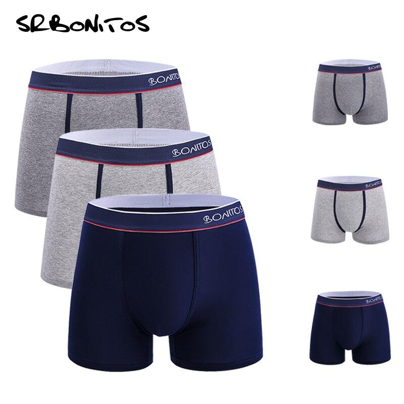 Boxer Men 3pcs/lot Classic Mens Underwear Boxers Men Underpants Comfortable Breathable Male Panties Gay Boxer Homme