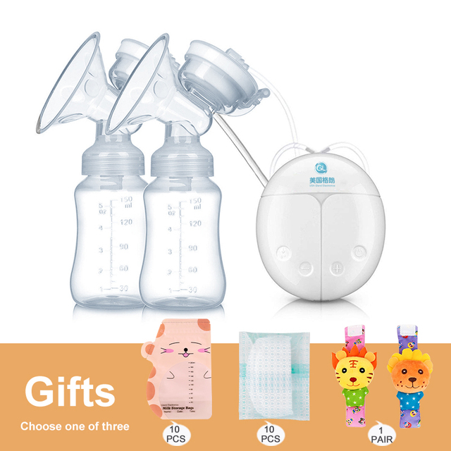 GL FDA Double Listrik Payudara Pompa Hisap Kuat Bayi Puting Susu Bayi Menyusui Botol USB Pembesaran Payudara Pompa