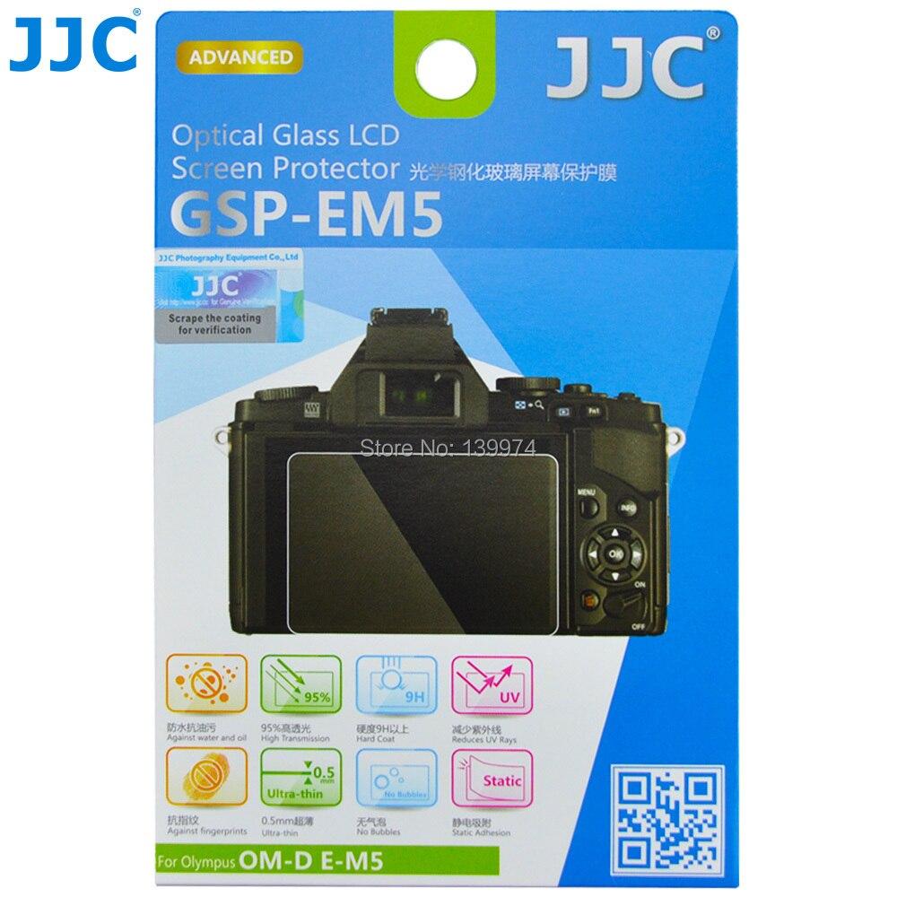 JJC Anti-Bubble Anti-scratch Anti-burst Anti-fingerprint Ultrathin Optical Tempered Glass Screen Protector For OLYMPUS OM-D E-M5