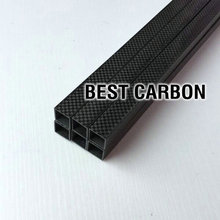 Free shiping 2pcs of SQUARE High Quality 3K Plain Carbon Fiber Fabric Wound winded Tubes