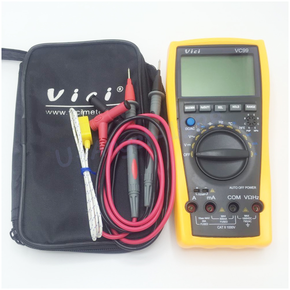 Vichy VC99 3 6/7 Auto range digital multimeter with bag Vici VC99+free shipping цена