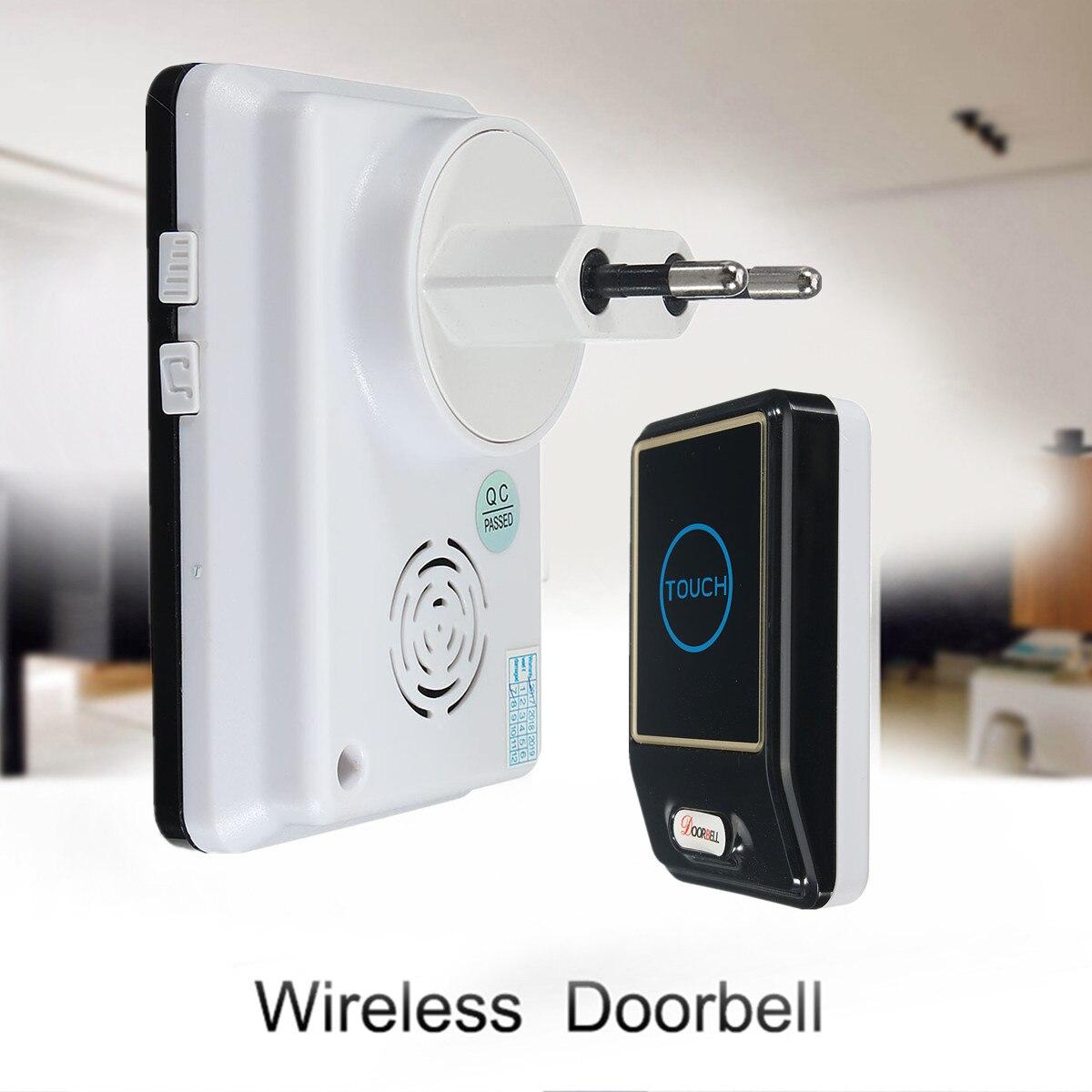 Safurance Waterproof Intelligent Doorbell Wireless Remote Smart Touch Door Bell 28 Melody Waterproof Home Security home wireless smart doorbell security