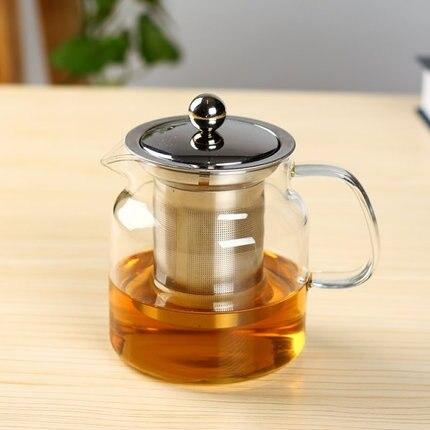 Горячие Чай чайник фильтр стекло Чай комплект специальное стекло цветок Чай горшок набор стекла тепла кунг-фу чай Бесплатная доставка
