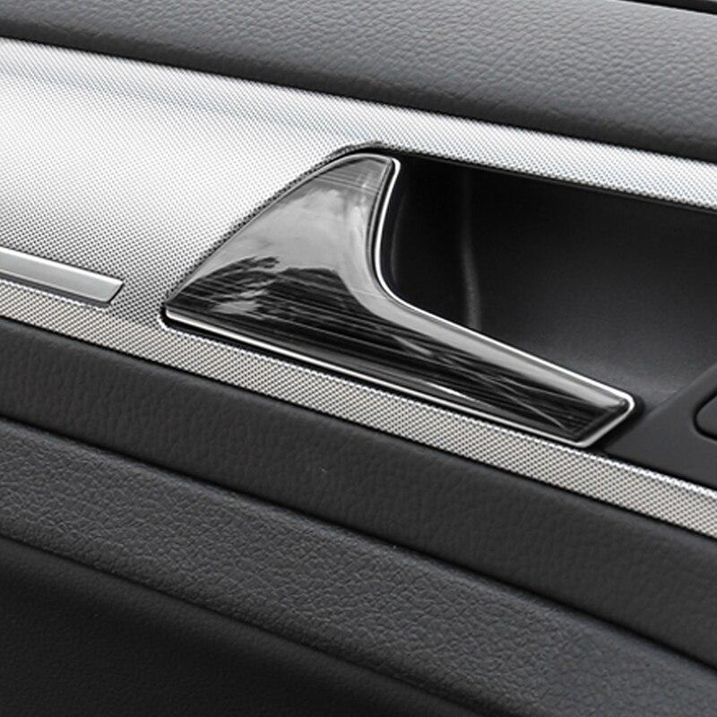 Para Volkswagen Golf 7 Golf 7.5 Car Styling Acessórios Tampa Alça Tigela Porta Interior Guarnição Quadro Adesivo Interior - 4
