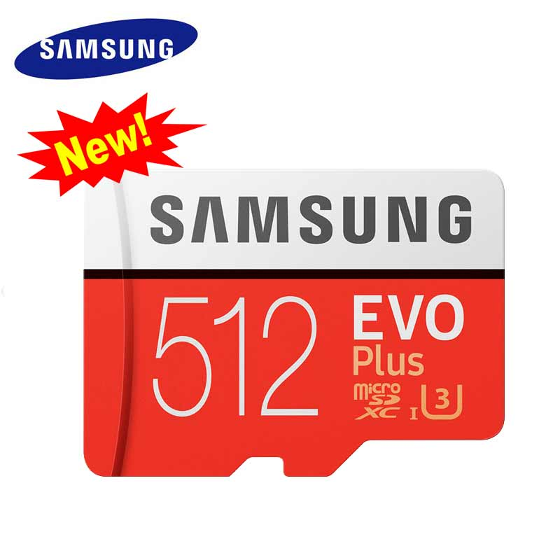 D'origine Samsung 512 gb Nouvelle Carte Mémoire Micro SD Cartao de Memoria Flash TF Classe 10 MicroSDXC U3 EVO PLUS pour 4 K Appareils Intelligents