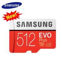 Original Samsung 512gb New Memory Card Micro SD Cartao de Memoria Flash TF Class 10 MicroSDXC U3 EVO PLUS For 4K Smart Devices