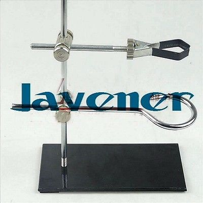 цены Portable 30cm retort stand iron stand with clamp clip laboratory ring stand educational equipment flask clamp