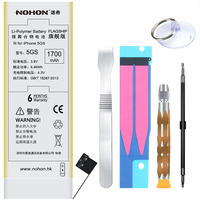 NOHON Li Polymer Battery For Phone 1700mAh High Capacity Batteries For IPhone 5S 5C With Repair