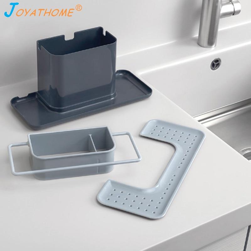 Image 5 - Joyathome Bigger Size Kitchen Sink Drain Storage Rack Sponge Dishwashing Cloth Rack Kitchen Storage Cocina Organizador-in Racks & Holders from Home & Garden