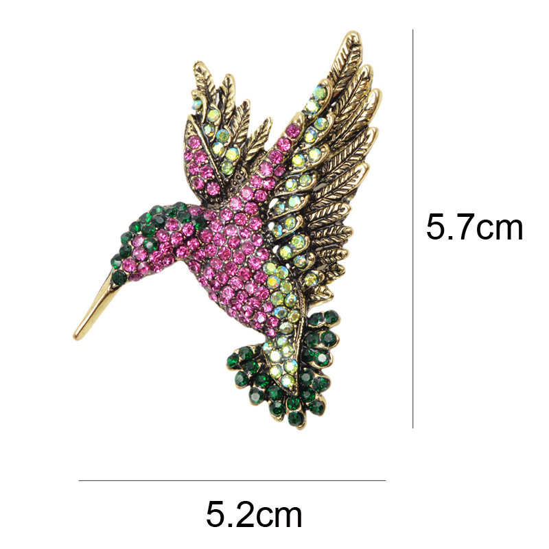 CINDY XIANG Colorful Rhinestone Hummingbird Brooch Animal Brooches for Women Korea Fashion Accessories Factory Direct Wholesale 2