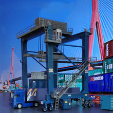 1: 87 Model Trein Ho Container Crane DIY Building Kits Statische Architectonische Scène Accessoires