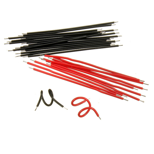 20pcs/lot Black/Red Conducting Wire Line Conductor Lead Breadboard ...