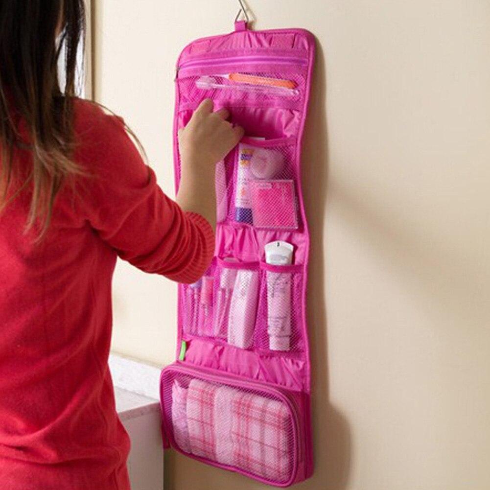 Women Portable Cosmetic Bags Nylon Multifunction Makeup Bag Organizer Women Cosmetic Cases Travel Bag Toiletry Kits Wash Bag