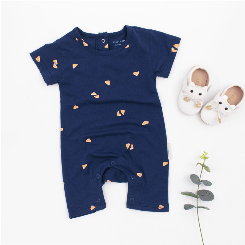 EnkeliBB 2018 Tiny Cottons Romper Baby Boys Blue Playsuits Tiny Cottons Infant Summer Clothing Kids Brand Style Clothes KIKIKIDS