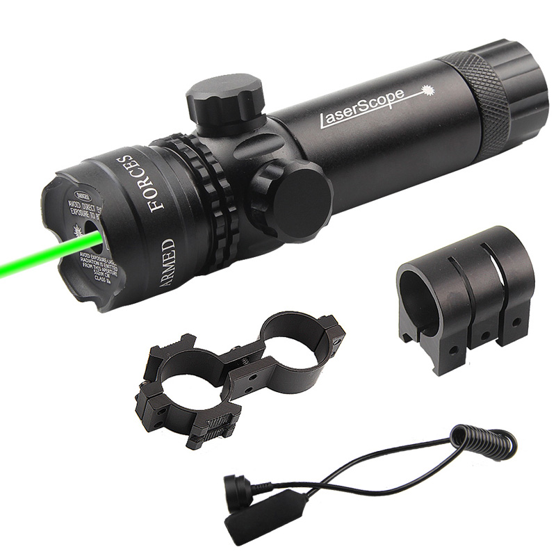 Adjustable Green Laser Sight with Mount & Remote Pressure Switch 3-1G-01-