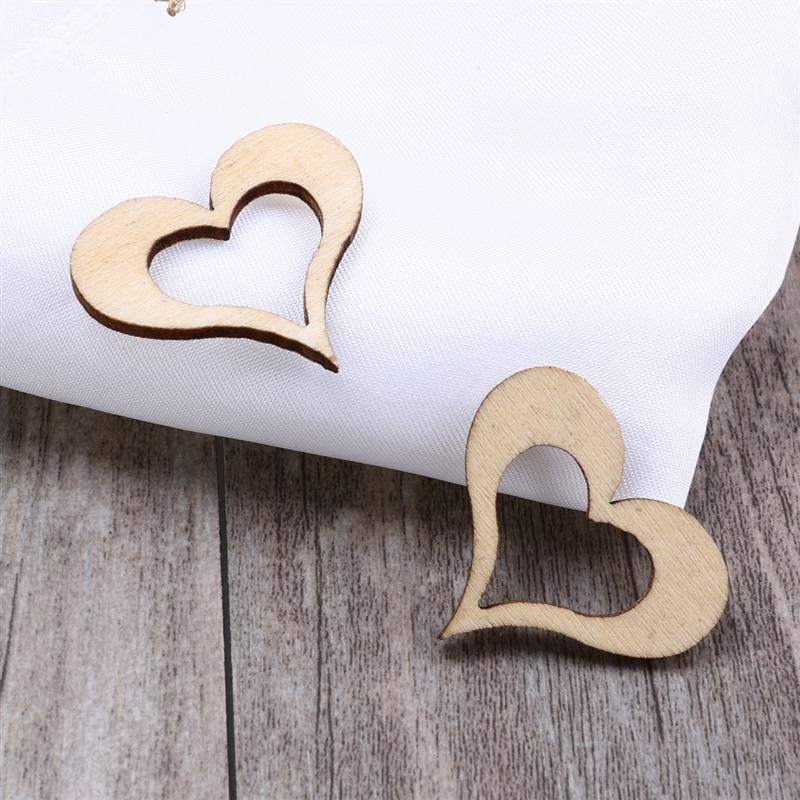 Hollow Wooden Heart Shape Craft Blanks Decoration Tables Ply Wood Weddings
