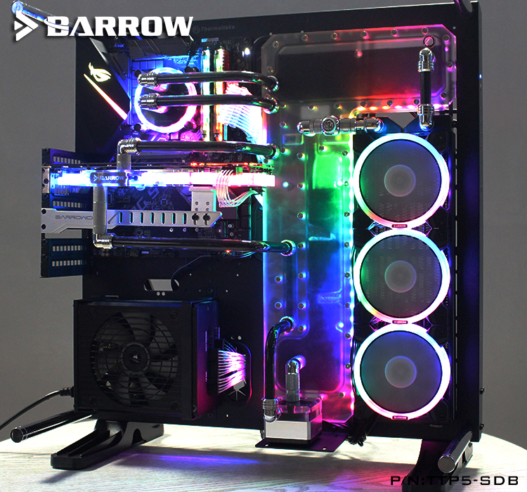 Барроу акриловые доски из водный канал использовать для TT Core P5 компьютерный корпус использовать как для Процессор и блок GPU RGB до 5 V GND 3PIN H