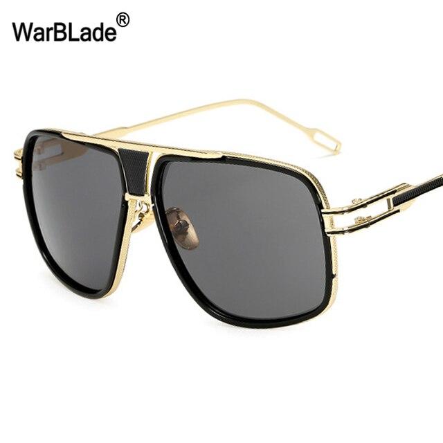 1c604faba3 WarBLade New Fashion Men Big Frame Sunglasses Vintage Square Glasses for  Women High Quality Retro Sun Glasses Gafas Oculos Male