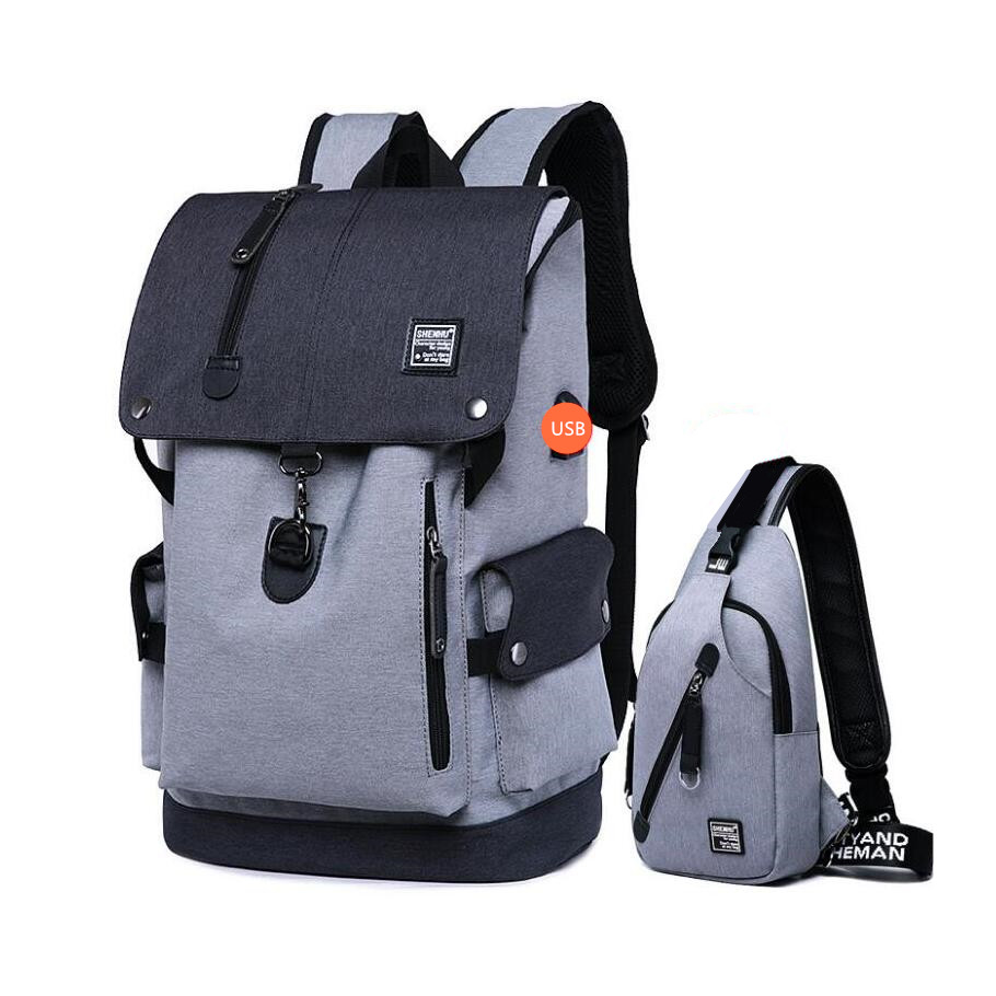 2pcs school backpacks for boys anti theft travel backpack school bags sling chest bag waterproof oxford fabric men shoulder bag new gravity falls backpack casual backpacks teenagers school bag men women s student school bags travel shoulder bag laptop bags