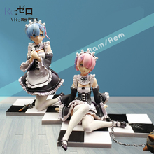 Re:Life in a different world from zero Blue Rem Red Ram Model Sexy Girls 14CM PVC Action Figure Collection Toy Gift