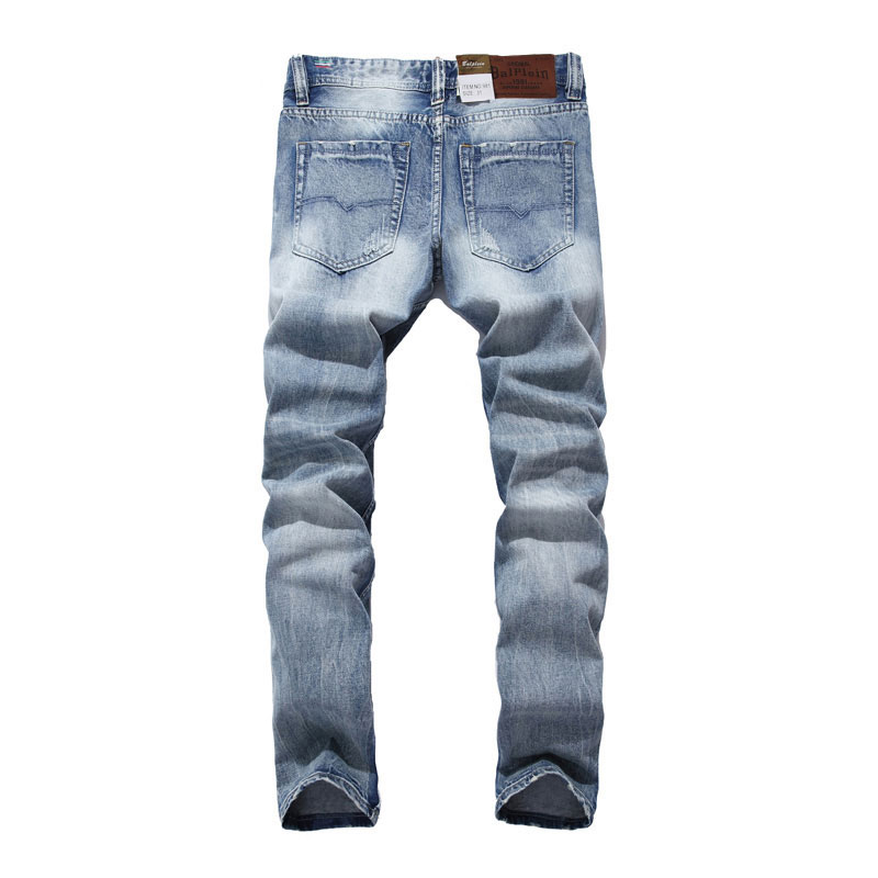 2019 New Balplein Brand   Jeans   Men Famous Blue Men   Jeans   Trousers Male Denim Straight Cut Fit Men   Jeans   Pants,Blue   Jeans  ,981-A
