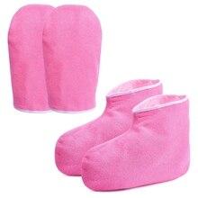 Парафиновые восковые банные перчатки и пинетки, увлажняющие рабочие перчатки, спа-покрытие для ног, набор для обработки рук, парафиновые восковые теплые инсулы