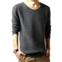 Brand Clothing Men 2019Fashion Sweater Simple Solid Color O-Neck Slim Fit Casual Pullover Sweaters Knitting Mens Size M- XXL