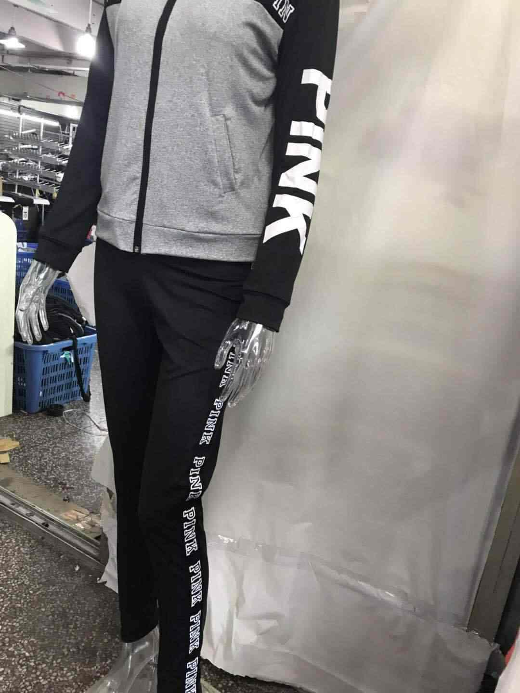 Hiver rose lettre imprimer survêtement pour les femmes à manches longues décontracté 2 pièces tenues grande taille vêtements deux pièces ensemble pantalon costumes