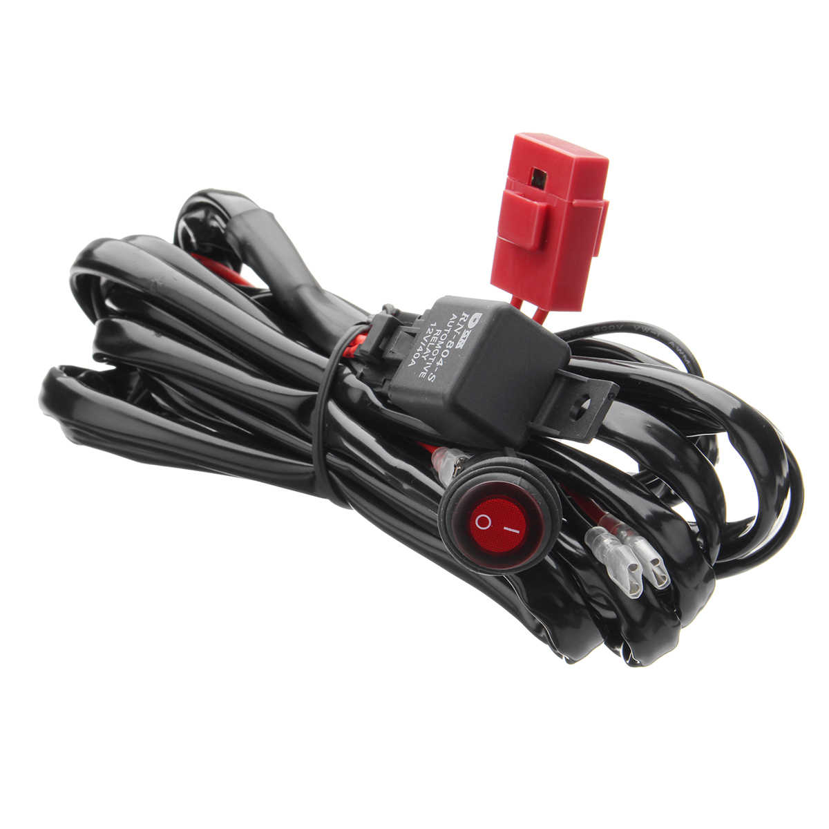 hight resolution of detail feedback questions about universal 12v 40a led working fog box in light bar wiring harness
