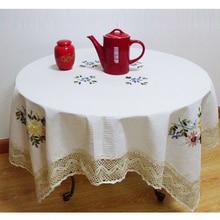 SKTEZO 2019 New Garden Wind Cotton Polyester Household Tablecloth round tablecloth  manteles para mesa rectangulares en tela