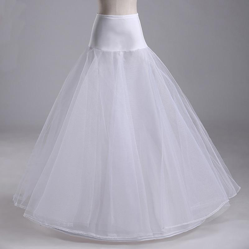 1 Hoops A-line Weiß Hochzeit Braut Zubehör Petticoat/unterrock 100% Original