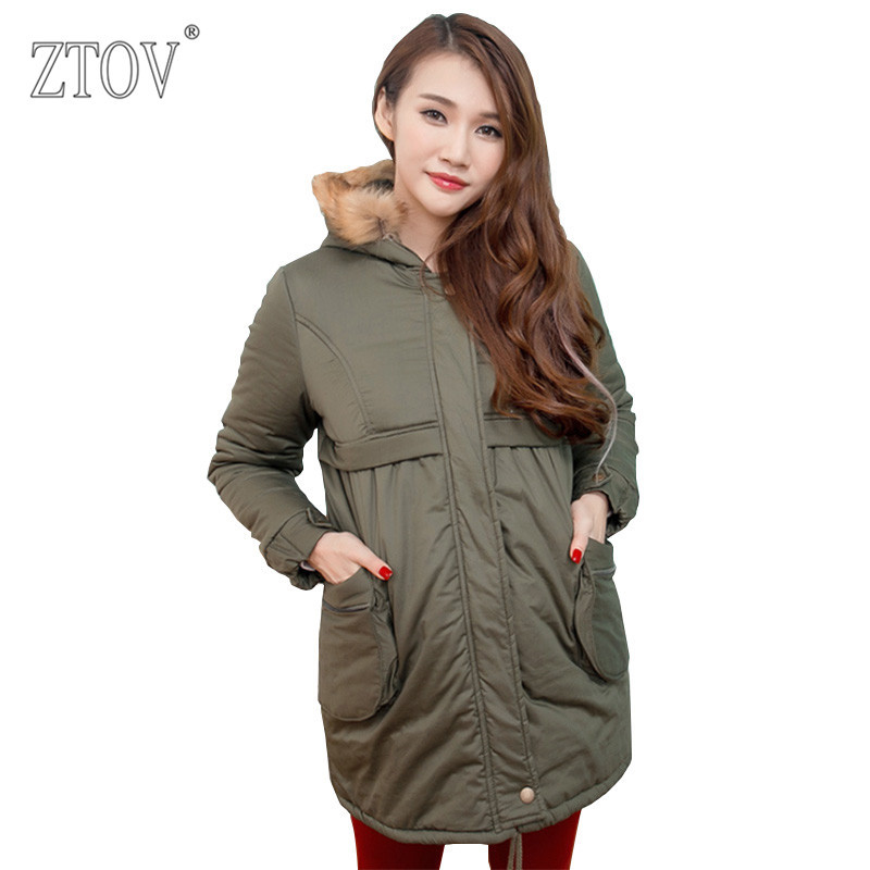 ZTOV Winter Maternity Coats Pregnancy down jacket parka Clothing for Pregnant women Overcoat Thickend Outwear Hoodies Clothes christmas maternity clothing pregnancy summer dress for pregnant women elastic knee length gowns vestidos ropa premama clothes
