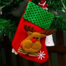 4 pcs Christmas Tree Santa Socks Hanging Ornaments