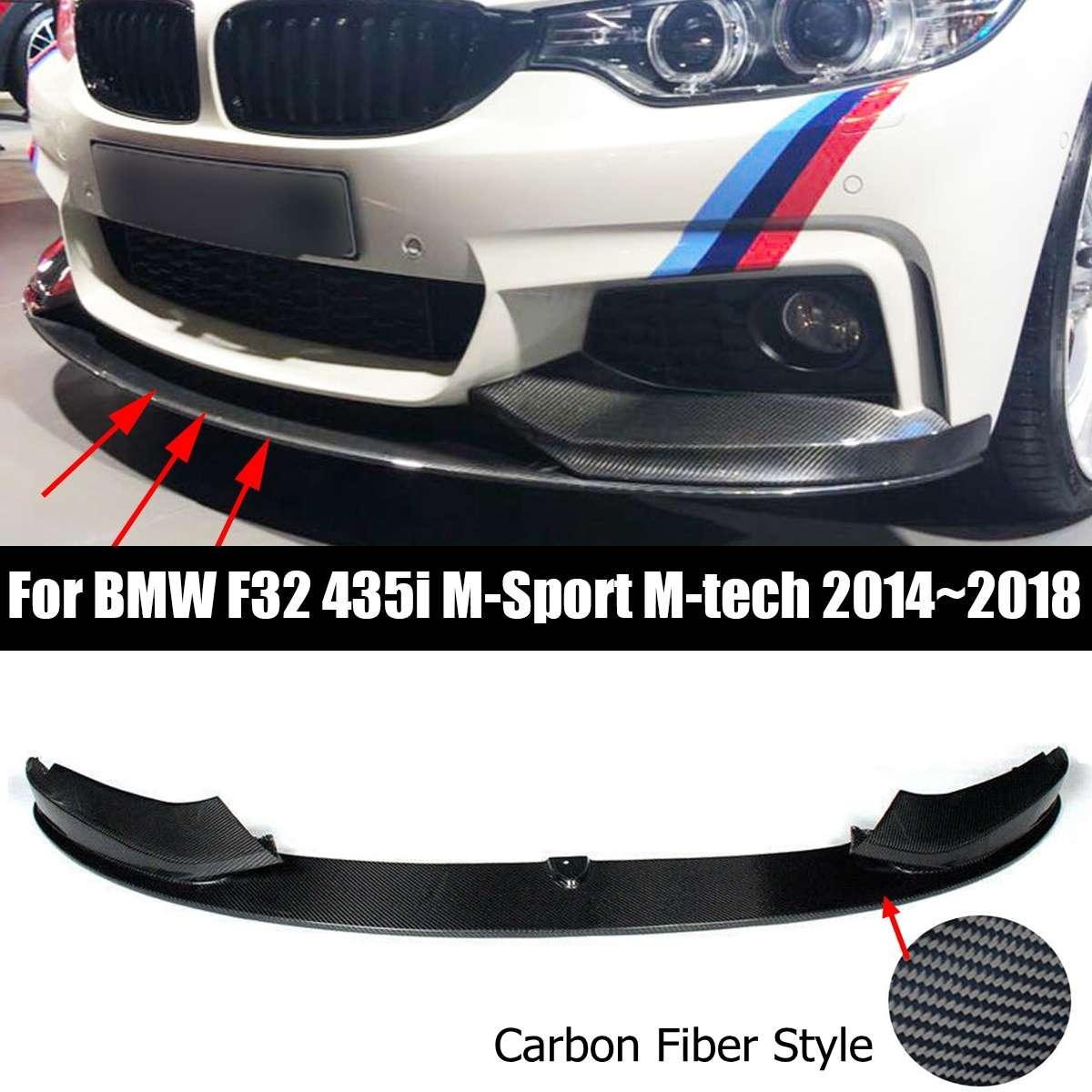 For BMW F32 428i 435i w// M Sport Bumper P-Style Carbon Fiber Front Lip 14-16