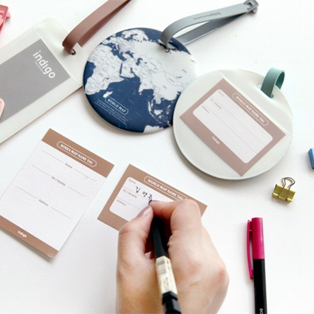 Fashion Map Luggage Tag Women Travel Accessories Silica Gel Suitcase ID Address Holder Baggage Boarding Tag Portable Label Bag 1