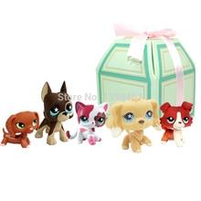 5 шт./лот pet shop lps игрушки собака кокер спаниель большой dane collie такса littlest кошка с подарочной коробкой 2291-1542-556-817-748
